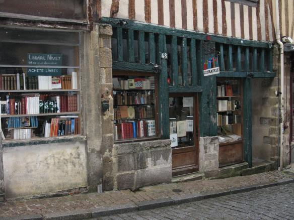 Library/bookshop in the ancient city of Limoges, France