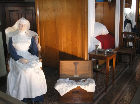 Another view of the Baume hospice museum. There was no Seniors' Guide then.