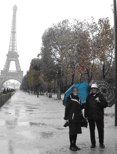 One of my books is about our romantic honeymoon in Paris