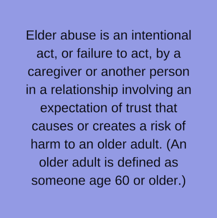 Definition of elder abuse