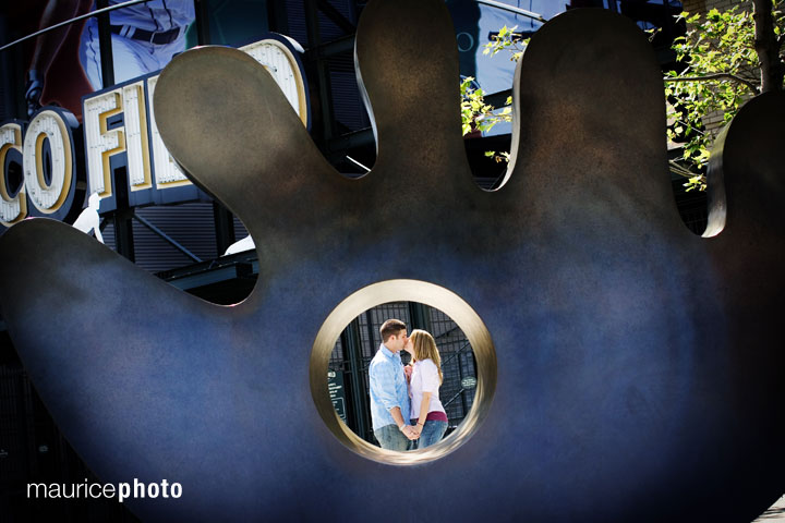 Engagement Pictures at Safeco Field
