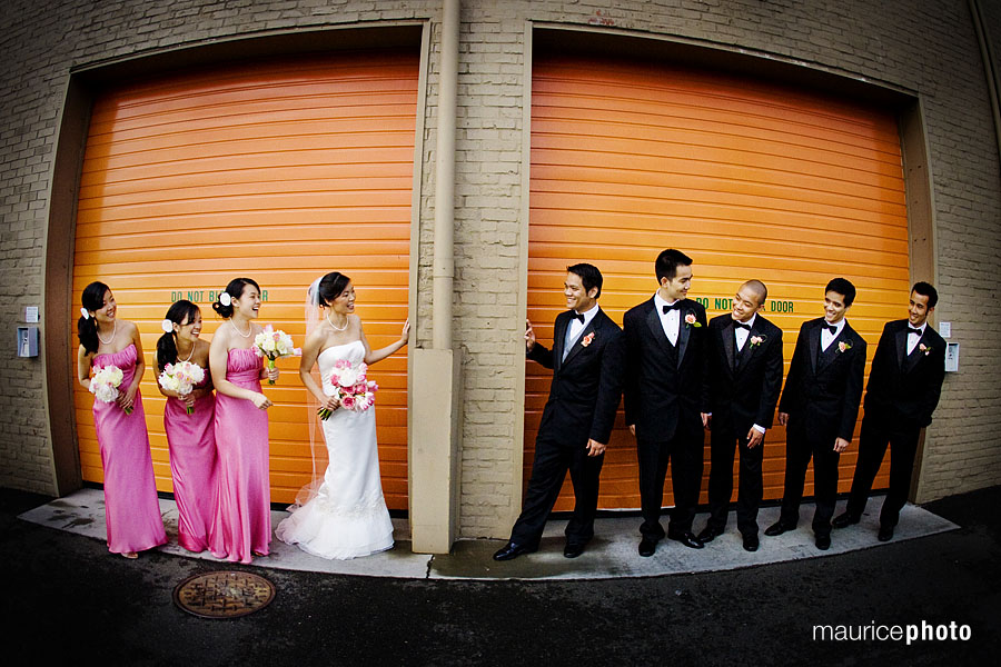 Wedding Party in Downtown Seattle