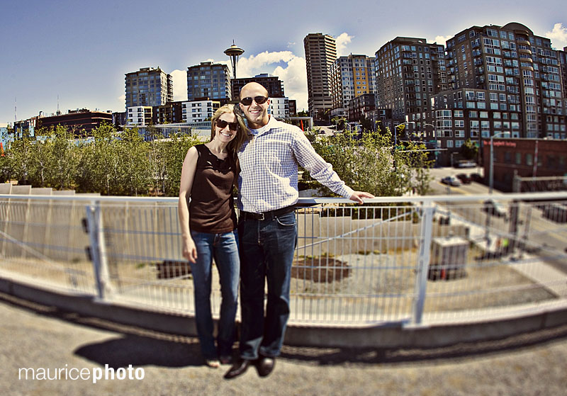 Engagement Photos at the Sculpture Park in Seattle