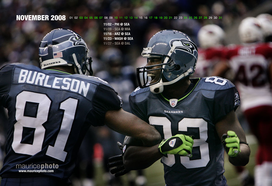 Seahawks Wallpaper Calendar for November