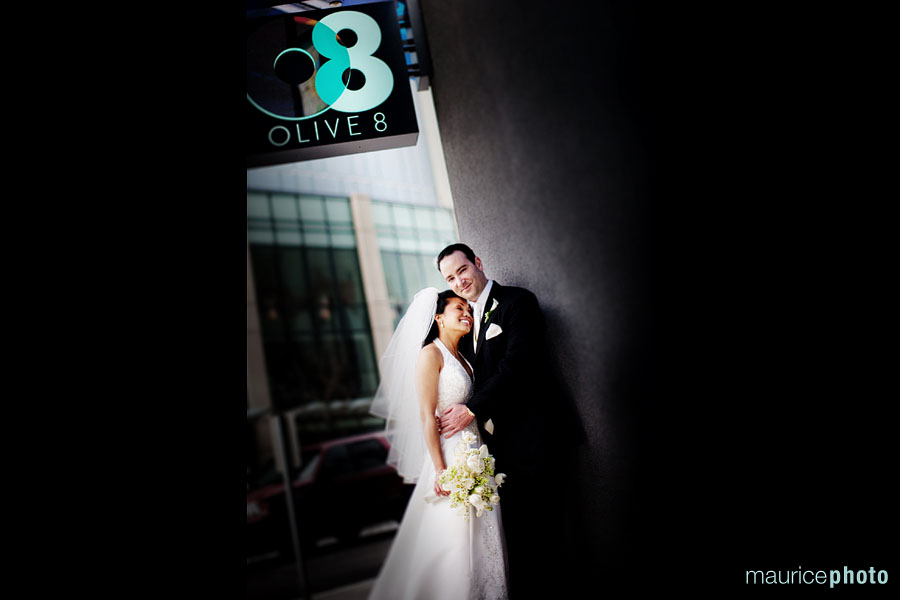 Pictures from a wedding at The Hyatt at Olive 8