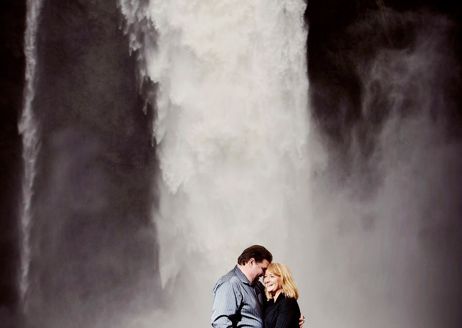 Debbie and Dominic's Engagement Pictures at Snoqualmie Falls