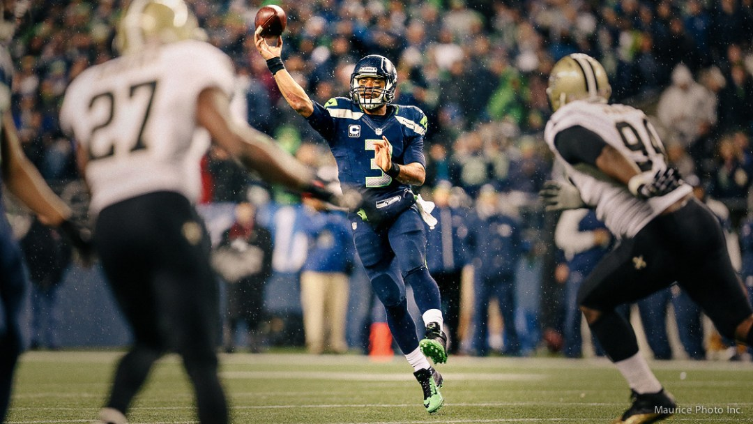 Seahawks QB Russell Wilson game photos