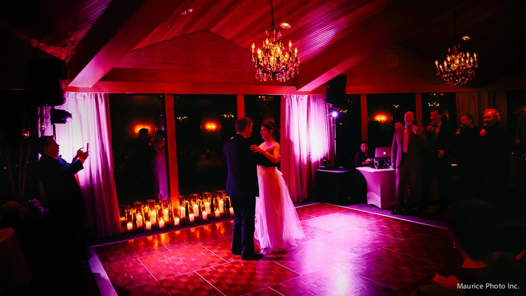 First dance at the Edgewater Hotel ballroom