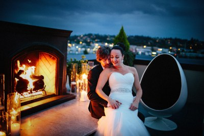 Photos from a wedding at the Olympic Rooftop Pavilion at Stoneburner Weddings