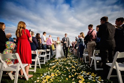 Seattle Tennis Club wedding ceremony