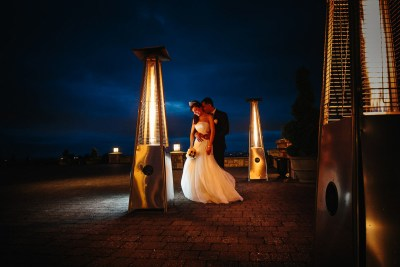 Newcastle Golf Club Wedding Photos at night