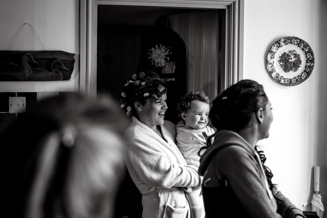 Hafod Farm Wedding - Happy mum and daughter moment