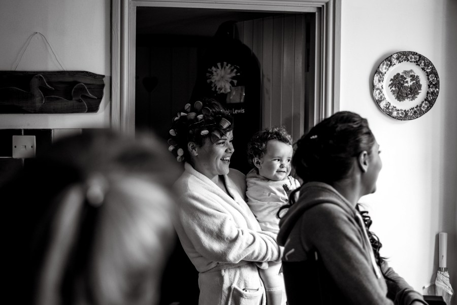 Hafod Farm Wedding - Happy mum and daughter moment
