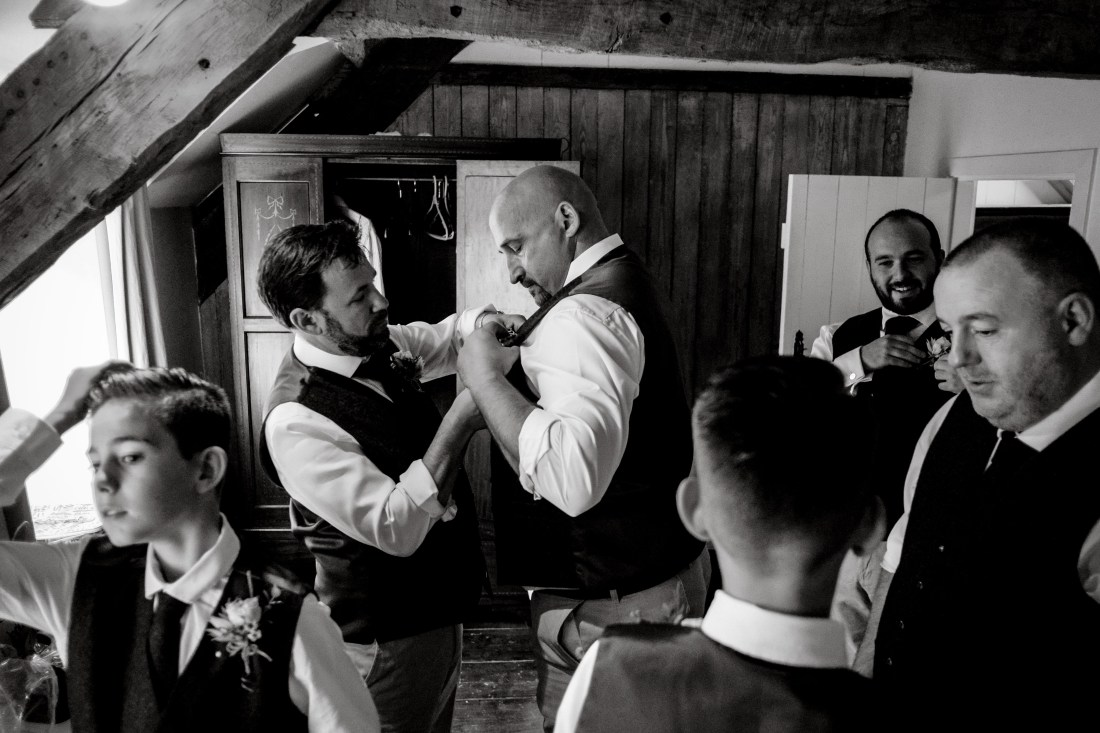 Hafod Farm Wedding - Groom and Groomsmen
