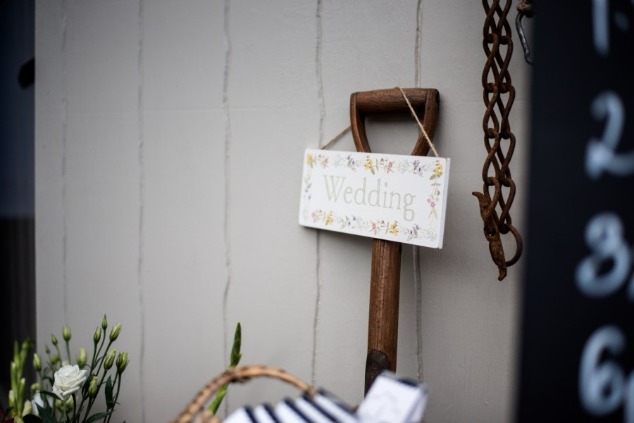 Hafod Farm Wedding - Wedding sign
