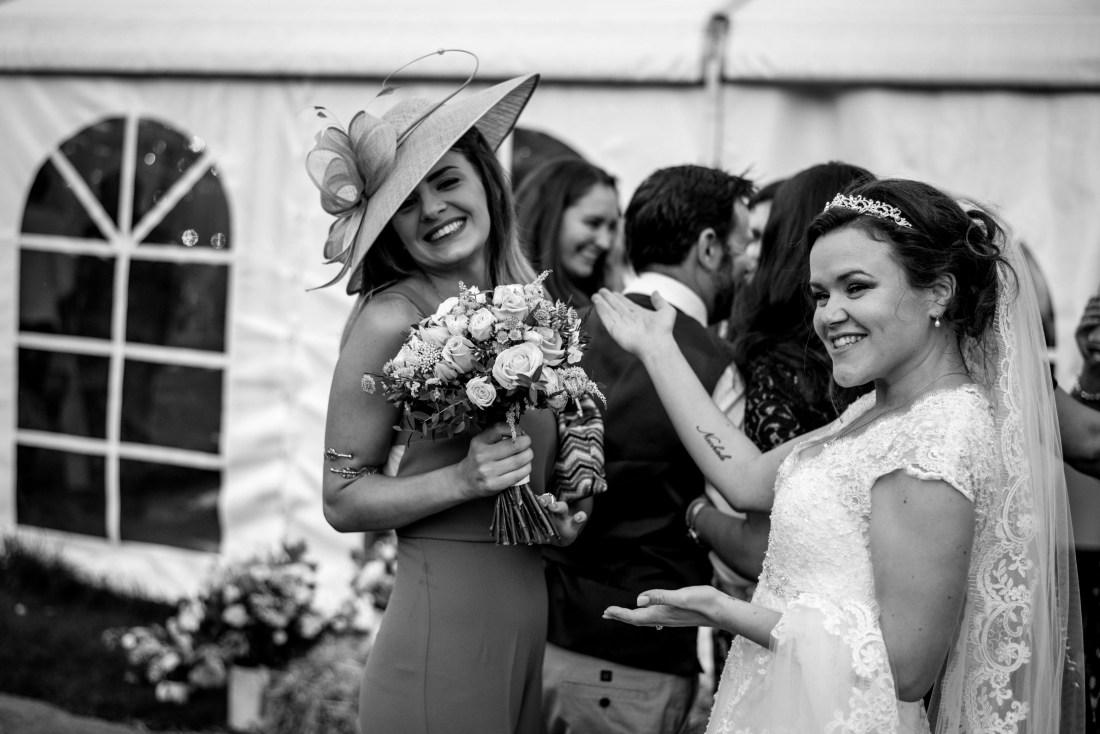 Hafod Farm Wedding - Bride and her friends.