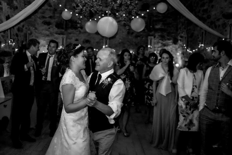 Hafod Farm Wedding - Bride and her father.