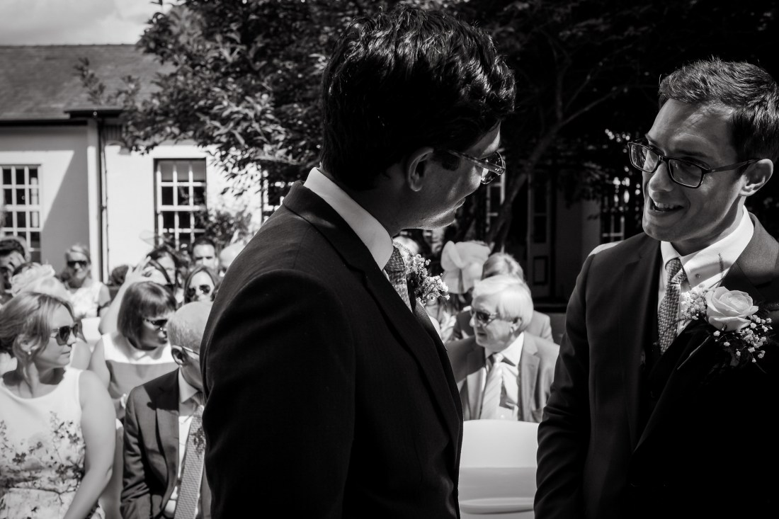 Statham Lodge Wedding - Groom with his best man