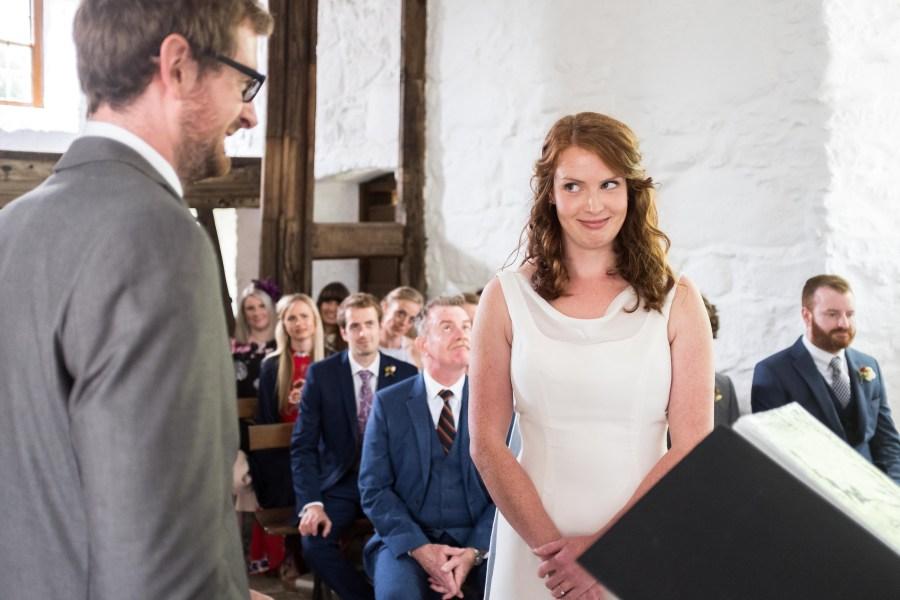 Wedding ceremony at Penarth Fawr.