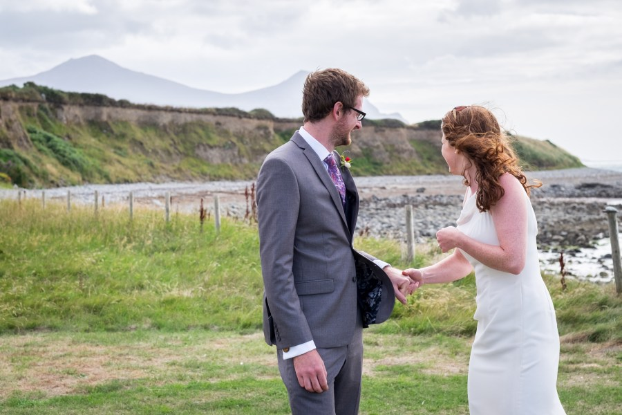 North Wales wedding photographer Rob and Jess picture by the sea