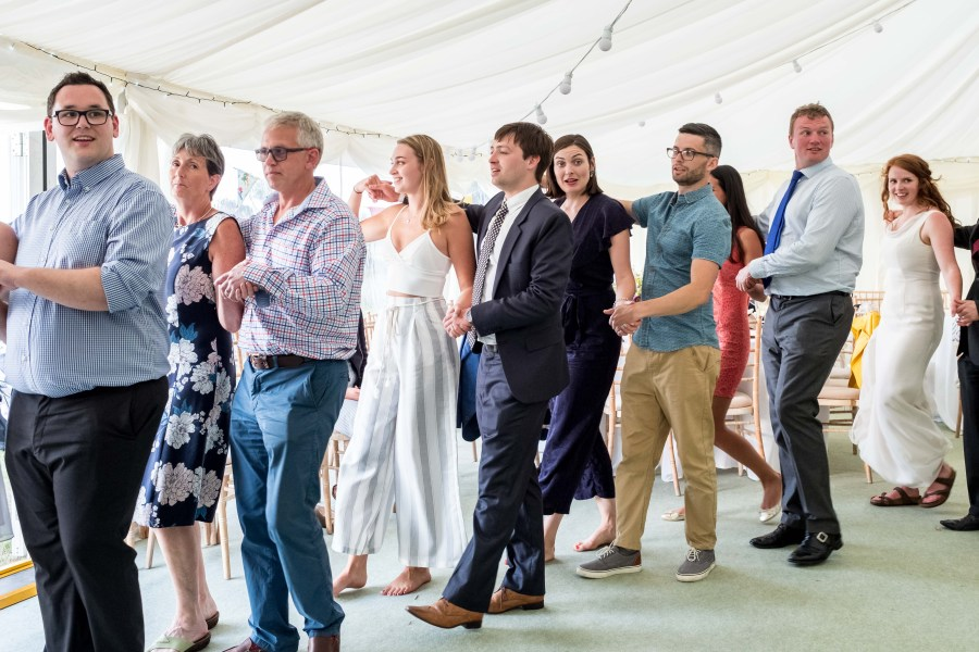 Ceilidh dancing at Red Welly Wedding
