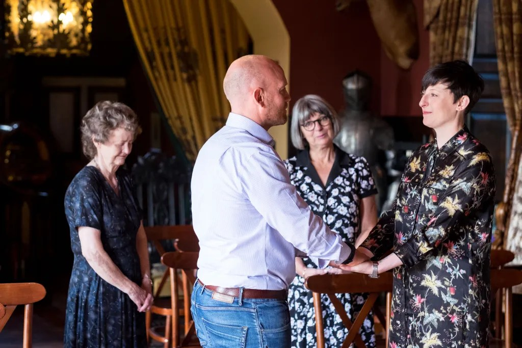 Beautiful Llangollen wedding ceremony of Rachel and Paul