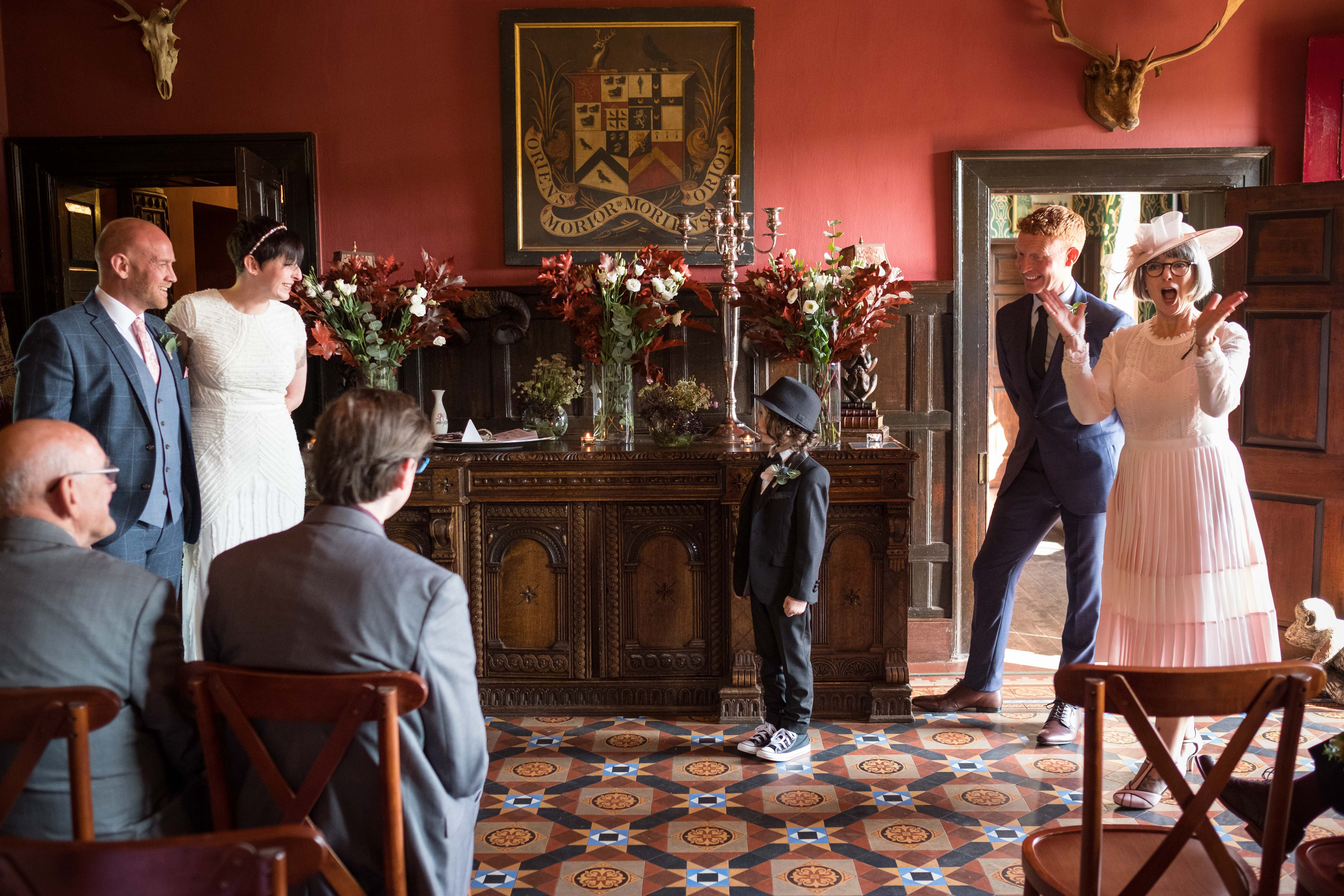 Wedding speech from the brides son at Trevor HHall in Llangolleen