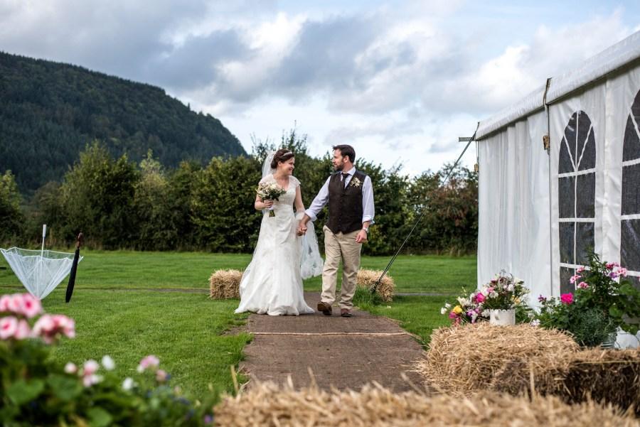 Beautiful wedding at Hafod Farm in Conway