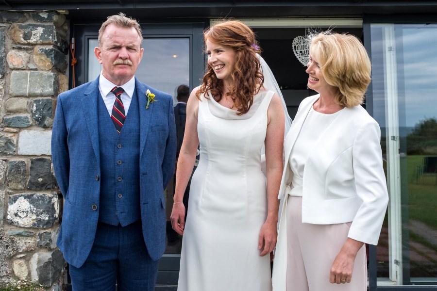 Penarth Fawr wedding family portrait