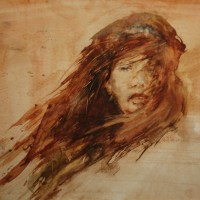 """Windblown"" Available At Saatchi Online (Saatchi Online Artist: Maurice Sapiro; Watercolor Painting ""Windblown"", 2001)"