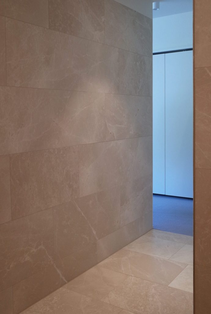 Architectural design of bathroom with nature stone
