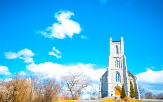 An Small Anglican Church In The Prairie