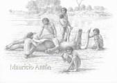 hominidos y pelorovis olduvai 2 watermark