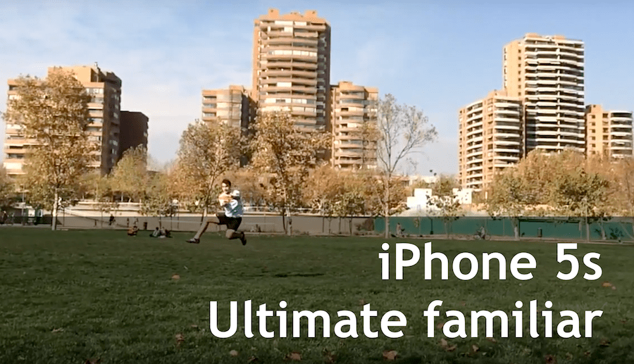 Prueba de cámara y app del iPhone 5S en mini entrenamiento familiar de Ultimate