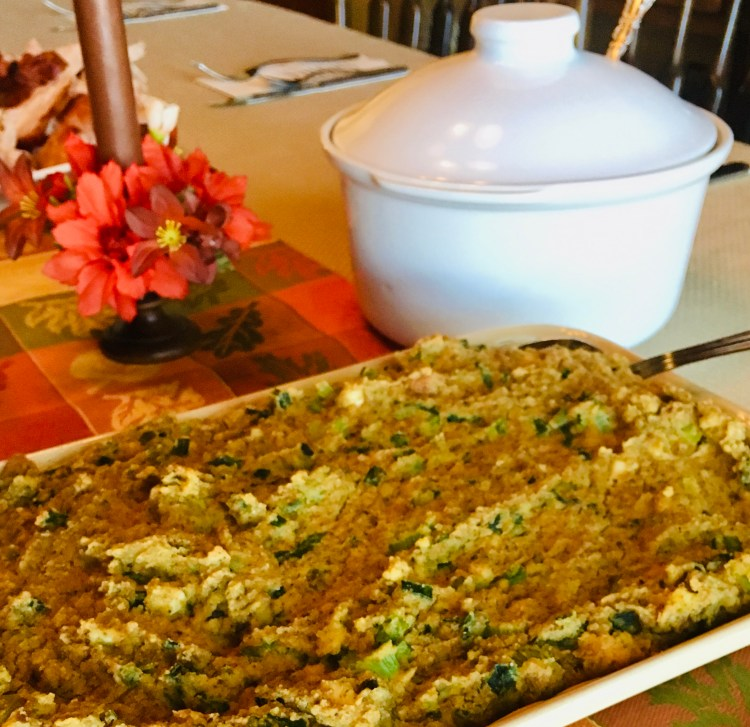 Southern Cornbread Dressing Using Eggs and Sage