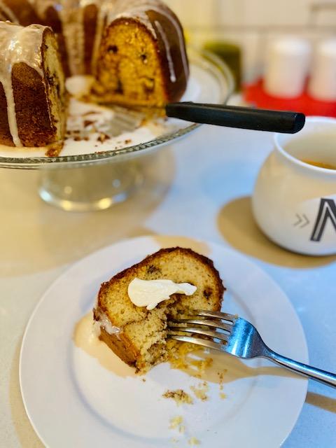 Chocolate Chip Banana Breakfast Muffin Cake