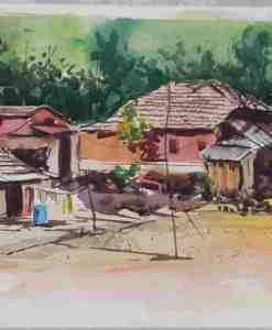 Mauritius Arts & Artists - faizal-dilloo-village-corner