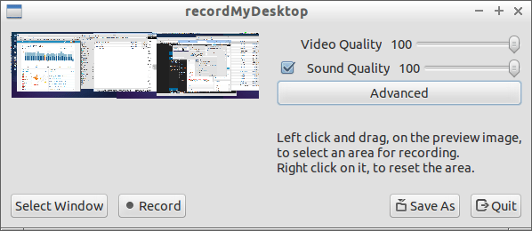 recordmydesktop - screencast tool