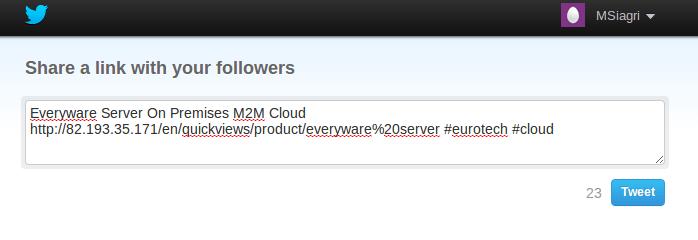 twitter url shown