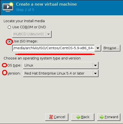virt-manager Create New VM  2/5