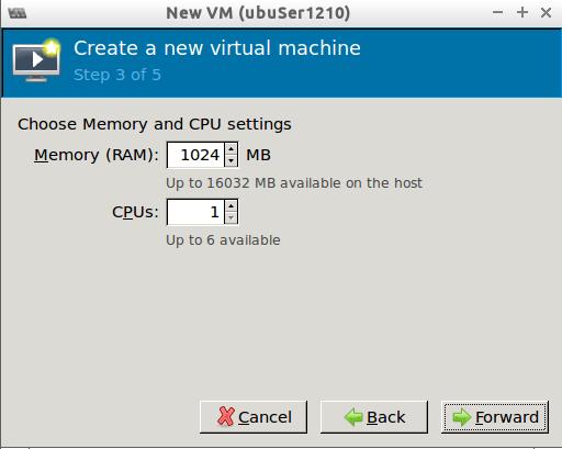 Step 3/5 Virt-manager new VM