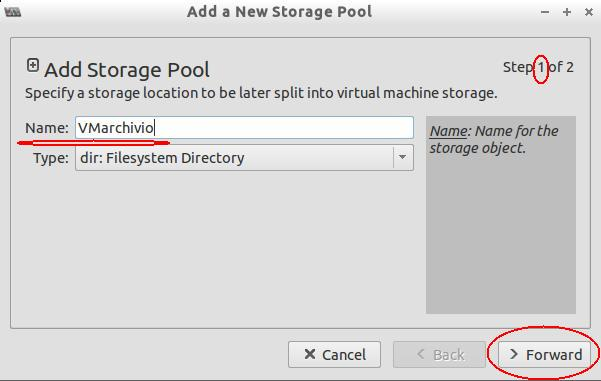Add Storage name storage