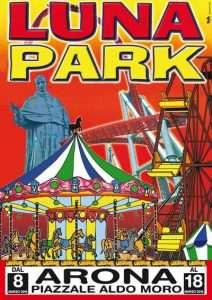 manifesto luna aprk promuovere serata discoteca, luna park evento locale con digital advertising
