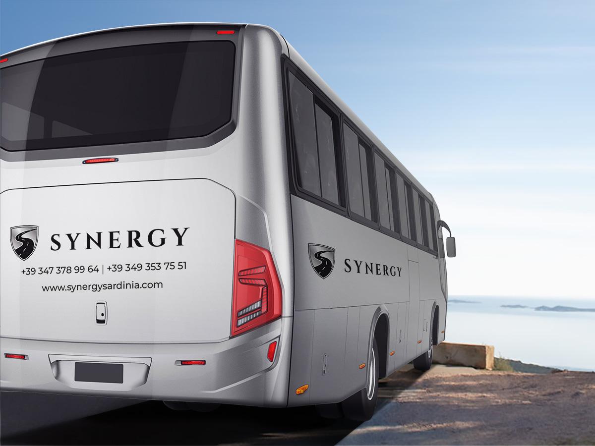 Synergy - Logo su autobus