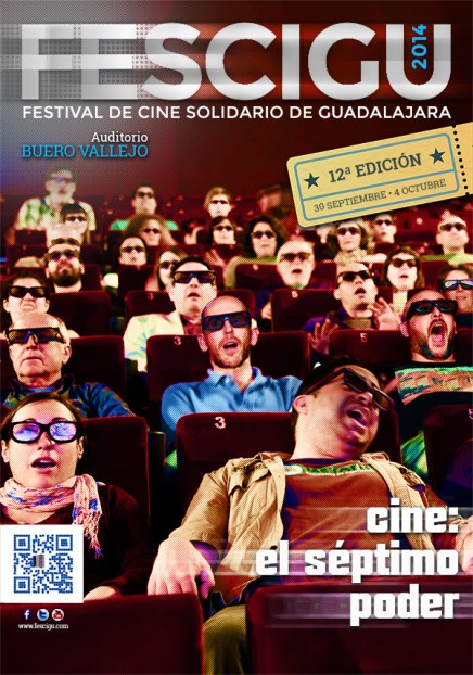 FESCIGU. Festival de Cine Soliario Guadalara / Cinefilia / 2014. Diseño cartel: Raquel M. Lozano.