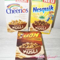Knusper-Müsli von Nestlé Lion, Nesquik und Multi Cheerios