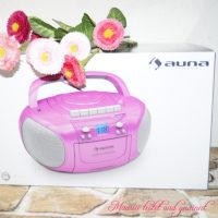 auna BoomGirl Boom Box mit MP3, CD, Kassette, USB & Radio