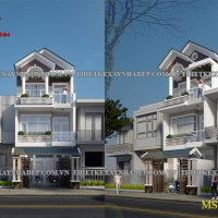 Thiết kế nhà 2 tầng 5x20 mặt tiền 5m tại Đồng Nai
