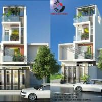 Thiết kế nhà 3 tầng mặt tiền 5m đẹp sáng như ánh mặt trời
