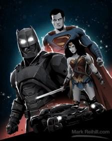 Batman v Superman by Mark Reihill